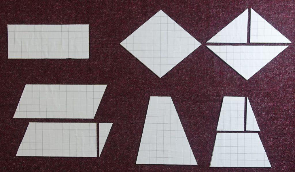 Wzory na pole czworokątów